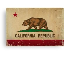 California State Flag VINTAGE Canvas Print