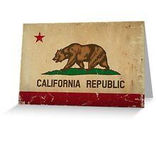 California State Flag VINTAGE Greeting Card