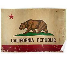 California State Flag VINTAGE Poster