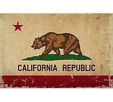 California State Flag VINTAGE Photographic Print