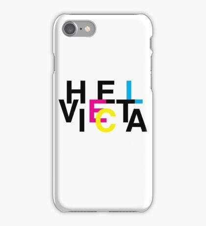 Helvetica & CMYK iPhone Case/Skin