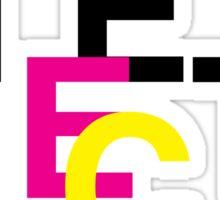Helvetica & CMYK Sticker