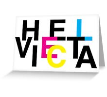 Helvetica & CMYK Greeting Card