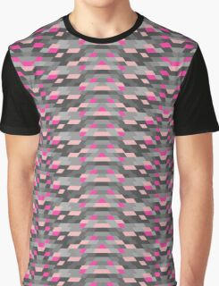 SYSTEM - Pink/Gray Graphic T-Shirt