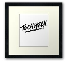 Tech Week Framed Print