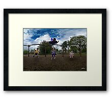 3  Kids on a Swing Framed Print