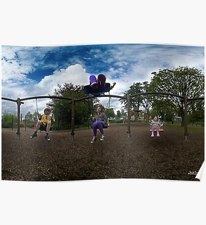 3  Kids on a Swing Poster