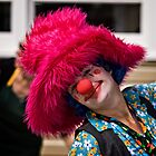 Clown with a furry hat by Wolf Sverak