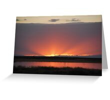Northern Nevada Sunset Greeting Card