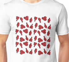 Park Snack Inspired Pattern - White and Red Unisex T-Shirt