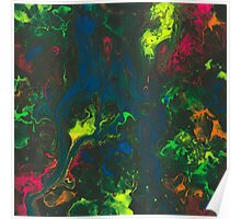 Blacklight Flow - Acrylic Painting Art Poster