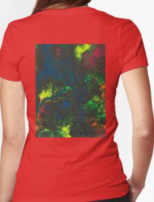 Blacklight Flow - Acrylic Painting Art Womens Fitted T-Shirt