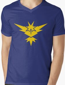 Team Instinct Pokemon GO! Mens V-Neck T-Shirt