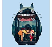 totoro big smile raining Photographic Print