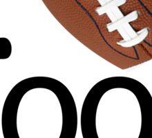 I Heart Football Sticker