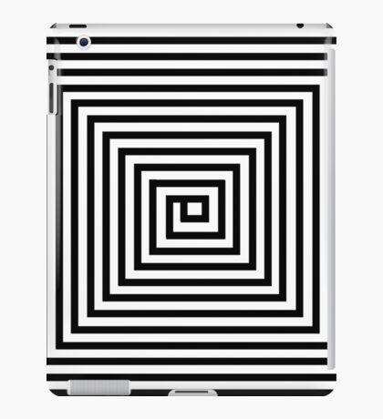 Black and White Square Spiral iPad Case/Skin