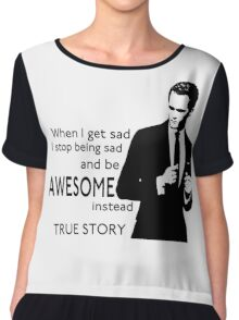 himym Barney Stinson Suit Up Awesome TV Series Inspired Funny  Chiffon Top