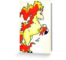 Rapidash Pokemon/PokemonGo Greeting Card