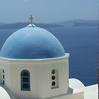Santorini Church by Alex Rentzis