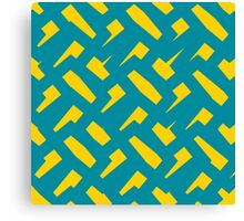 Yellow Scatter Canvas Print