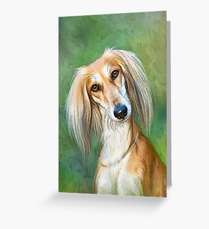 SALUKI ELEGANCE Greeting Card