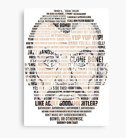 Krieger Quotes (Archer) Canvas Print
