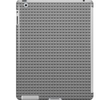 Building Block Brick Texture - Gray iPad Case/Skin
