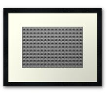 Building Block Brick Texture - Gray Framed Print