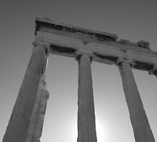 Temple on the Acropolis by Alex Rentzis