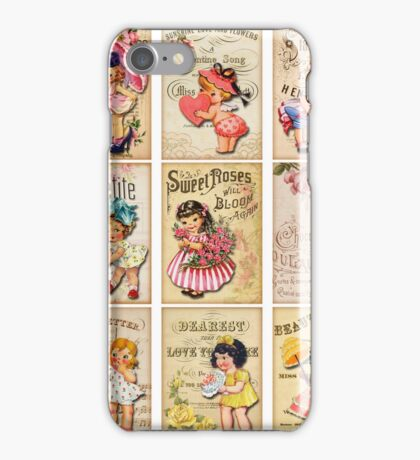 Vintage Retro Girl Dolls iPhone Case/Skin