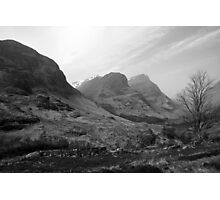 Three Sisters of Glencoe, Scotland, UK Photographic Print