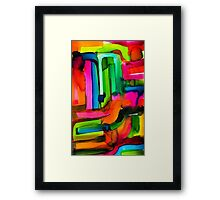 Watercolor. Framed Print