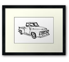 1955 F100 Ford Pickup Truck Illustration Framed Print