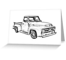 1955 F100 Ford Pickup Truck Illustration Greeting Card