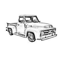 1955 F100 Ford Pickup Truck Illustration Photographic Print