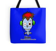 Tim...the misunderstood zombie (variation blue) Tote Bag