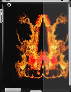 guitar fire by tinncity