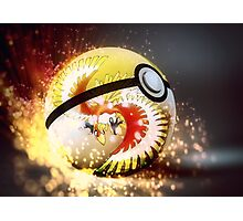 Ho Oh Pokeball Photographic Print