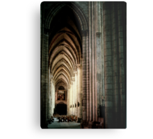 Sth Aisle Cathedral St Etienne Chalons Sur Marne France 198405060055 Metal Print