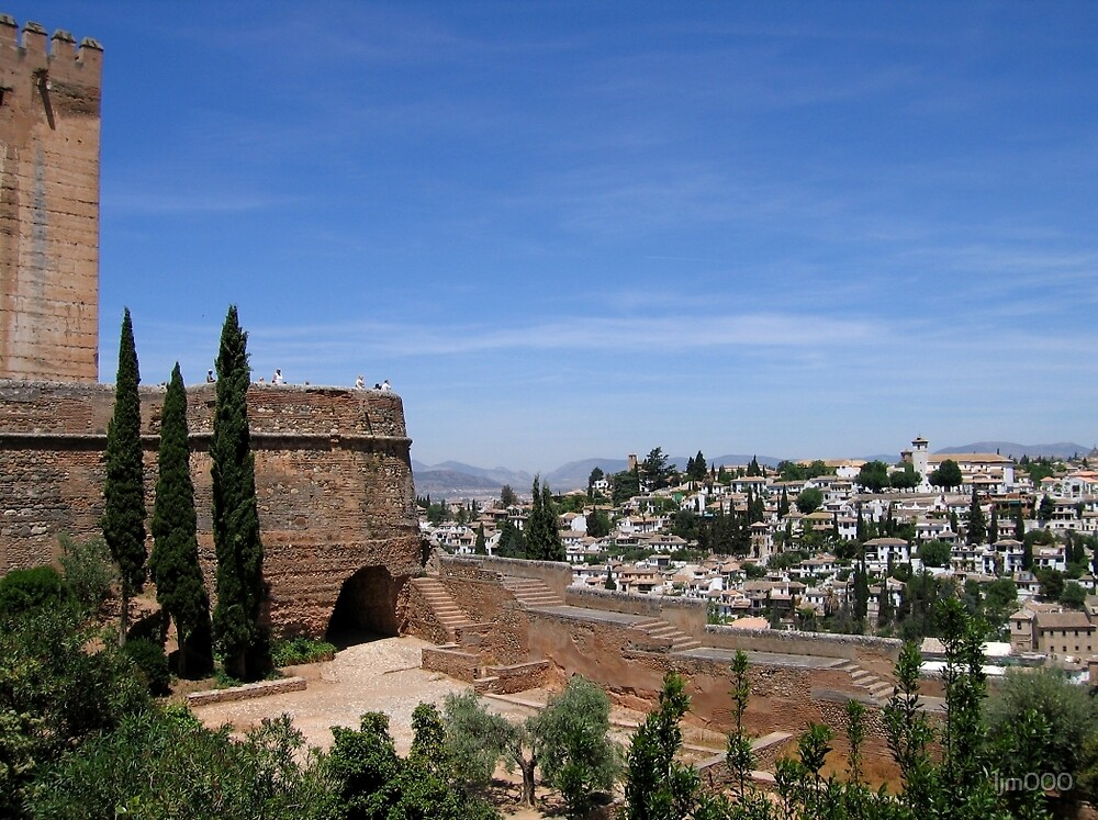 Granada view from the Alhambra by ljm000