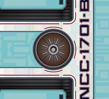 NCC-1701-B Hull iPad Case by Jon Kolton