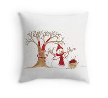 Snow Time For Knitting Like Winter Throw Pillow