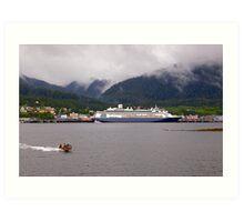 En-Route to Alaska, Cruise Liner, Ketchikan. Art Print