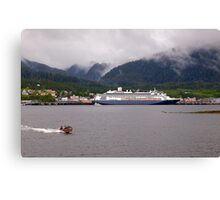 En-Route to Alaska, Cruise Liner, Ketchikan. Canvas Print