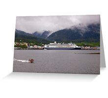 En-Route to Alaska, Cruise Liner, Ketchikan. Greeting Card
