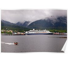 En-Route to Alaska, Cruise Liner, Ketchikan. Poster