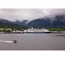 En-Route to Alaska, Cruise Liner, Ketchikan. Photographic Print