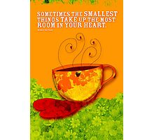 What my Coffee says to me -  September 7, 2012 Photographic Print