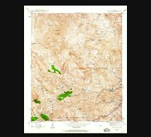 USGS TOPO Map Arizona AZ Inspiration 311890 1945 24000 Unisex T-Shirt