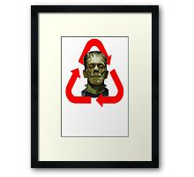 FRANKENSTEIN - MADE OF 100% RECYCLED HUMAN BODY PARTS Framed Print